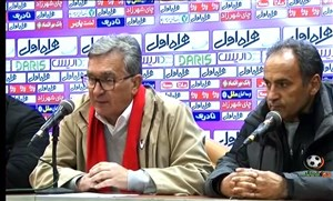 کنفرانس خبری پرسپولیس - استقلال خوزستان