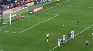 پنالتی از دست رفته بارسلونا توسط لیونل مسی