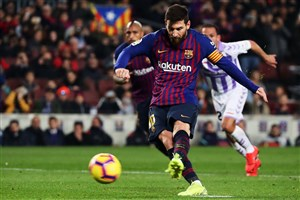بارسلونا 1-0 وایادولید: پذیرایی ساده از رونالدو!