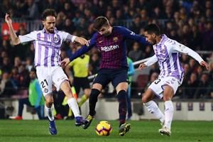 ضعف عجیب بارسلونا در برابر وایادولید با وجود پیروزی