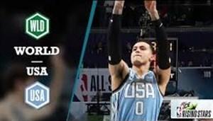 خلاصه بسکتبال منتخب آمریکا - منتخب جهان