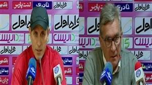 صحبت های برانکو و گلمحمدی قبل از بازی در جام حذفی