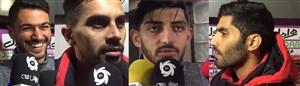 صحبتهای بازیکنان پرسپولیس پس از برد مقابل پدیده