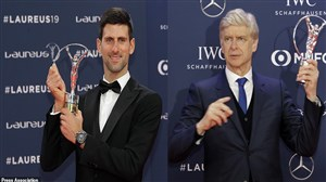 تقدیر از نواک جوکوویچ و آرسن ونگر در مراسم برترین ها 2018