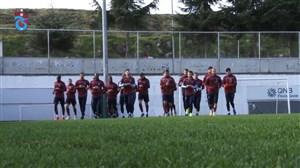 تمرینات بازیکنان ترابزون با حضور حسینی و امیری (01-12-97)