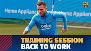 شروع تمرینات بارسلونا پس از تقابل با لیون