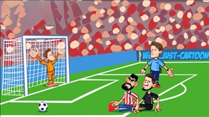 بازی اتلتیکو مادرید - یوونتوس به روایت انیمیشن