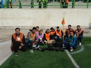 اعتصاب خبرنگاران و عکاسان دربازی نساجی - فولاد