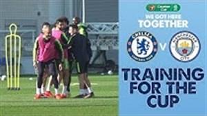 تمرینات آماده سازی منچسترسیتی برای فینال FA CUP