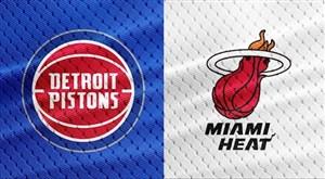 خلاصه بسکتبال میامی هیت - دیترویت