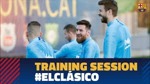 آخرین تمرین بازیکنان بارسلونا پیش از الکلاسیکو