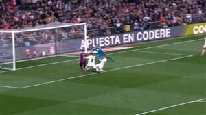 گل دوم بارسلونا به رئال مادرید با گل به خودی واران
