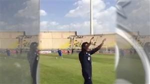 تشویق فرهاد مجیدی توسط استقلالی های ورزشگاه غدیر اهواز