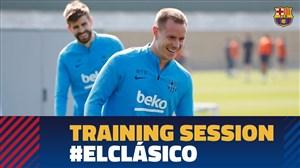 تمرین امروز تیم بارسلونا (09-12-97)