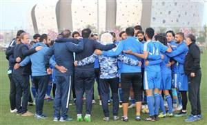 آبی ها در راه استادیوم عبدالله بن خلیفه