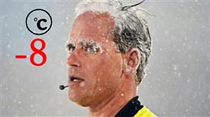 بازی در دمای 8- درجه سانتیگراد در لیگ آمریکا