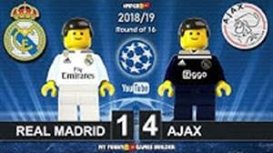 شبیه سازی بازی رئال مادرید و آژاکس با لگو