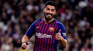 گل سوم بارسلونا به بتیس (سوارز)
