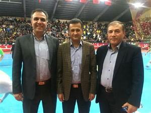 محمودزاده میهمان ویژه فینال لیگ برتر فوتسال