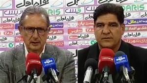 کنفرانس خبری رضا مهاجری و جرج  لیکنز بعد از بازی