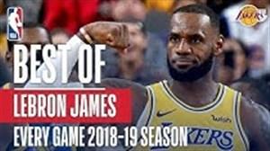 بهترین امتیازهای لبران جیمز در هر بازی فصل 19-2018