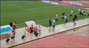 اختصاصی ؛ ورود بازیکنان نساجی به استادیوم شهید وطنی