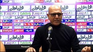 کنفرانس خبری مرزبان پس از بازی برابراستقلال