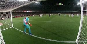 گل دوم بارسلونا به رایو وایه کانو (مسی-پنالتی)