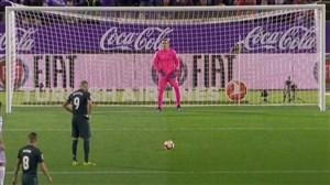 گل دوم رئال مادرید به وایادولید (بنزما - پنالتی)