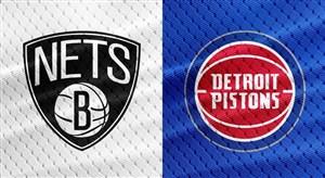 خلاصه بسکتبال بروکلین نتس - دیترویت پیستونز
