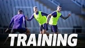 تمرین امروز تاتنهام در استادیوم المپیک بارسلونا