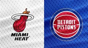 خلاصه بسکتبال دیترویت پیستونز - میامی هیت