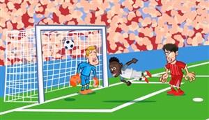 برد لیورپول در آلیانز آرنا به روایت کارتون