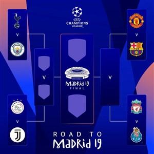 قرعه کشی مرحله یک چهارم و نیمه نهایی لیگ قهرمانان 2019