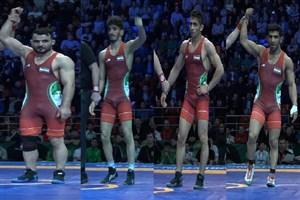 4 بازی ایران مقابل مغولستان ( جام جهانی کشتی آزاد) بخش اول