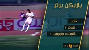 احمدنوراللهی بهترین بازیکن بازی سپیدرود - پرسپولیس