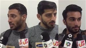مصاحبه با بازیکنان پرسپولیس بعد از بازی با سپیدرود
