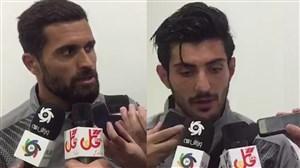مصاحبه با بازیکنان سپیدرود بعد از بازی با پرسپولیس