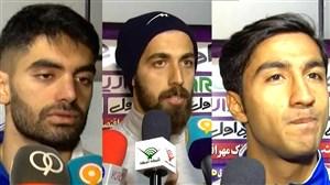 مصاحبه با بازیکنان استقلال - نساجی