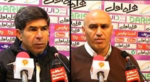 کنفرانس خبری منصوریان و قنبری پس از بازی