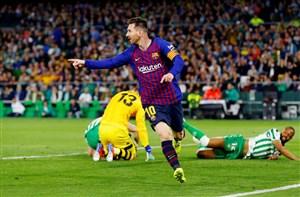 بتیس 1-4 بارسلونا: قهرمانی همین نزدیکی است