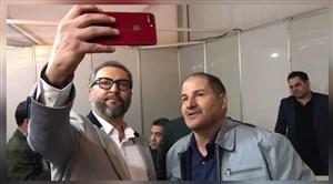 شوخیمیناوند با استاداسدی و عابدزاده در پشت صحنه برنامه نوروزی
