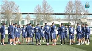 تمرین امروز تیم ملی آرژانتین (01-01-97)