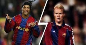 تبریک باشگاه بارسلونا برای تولد کومان و رونالدینیو