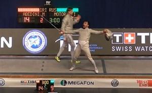 سه مسابقه آخر عابدینی در جامجهانی شمشیربازی بوداپست