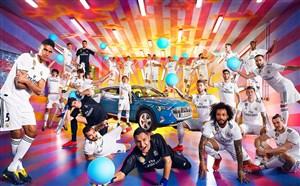 پشت صحنه معرفی خودروی الکتریکی آئودی توسط بازیکنان رئال مادرید