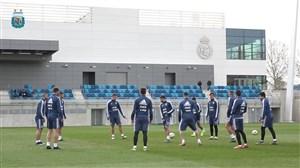 تمرینات تیم ملی آرژانتین در کمپ تمرینی رئال مادرید (04-01-98)
