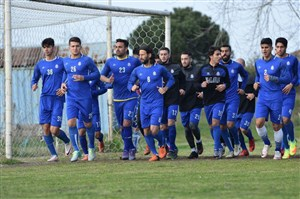 گزارشی از تمرینات آماده سازی تیم ملوان