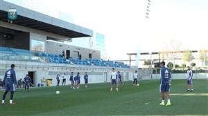 تمرین بازیکنان تیم ملی آرژانتین در کمپ رئال مادرید (05-01-98)