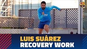 ریکاوری سوارز در تمرینات امروز بارسلونا (05-01-98)